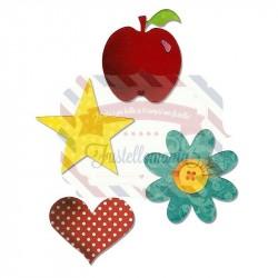 Fustella Sizzix Bigz Mela Fiore Cuore e Stella