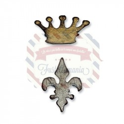 Fustella Sizzix Movers & Shapers Crown & Fleur by Tim Holtz