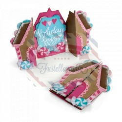 Fustella Sizzix Thinlits Card Gingerbread Fold a Long