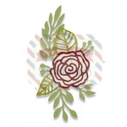 Fustella Sizzix Thinlits Doodle Rose by Debi Potter