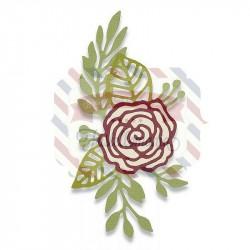 Fustella Sizzix Thinlits Doodle Rose by Debi Potter