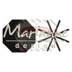Fustella metallica Marianne Design Craftables Open star fold