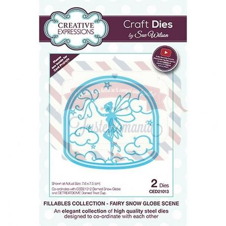 Fustella metallica Creative Expressions Fairy Snow Globe Scene