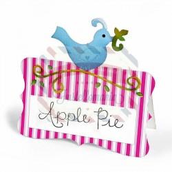 Fustella Sizzix Bigz Place Card with Bird