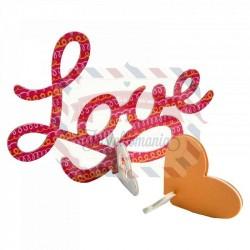 Fustella Sizzix Bigz Love 3-D
