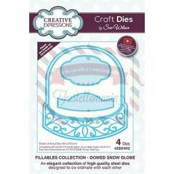 Fustella metallica Creative Expressions Domed Snow Globe