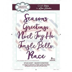 Fustella metallica Creative Expressions Seasons Greeting's