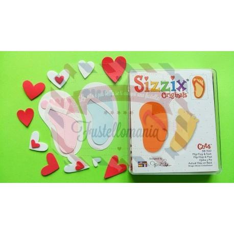 Fustella Sizzix originals Infradito e piede