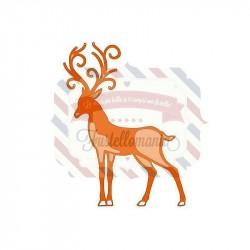 Fustella metallica Tonic Studios Rococo Christmas Regal Reindeer
