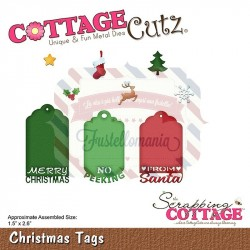 Fustella metallica Cottage Cutz Christmas Tags