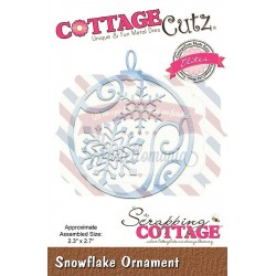 Fustella metallica Cottage Cutz Snowflake Ornament