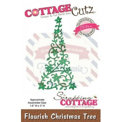 Fustella metallica Cottage Cutz Flourish Christmas Tree