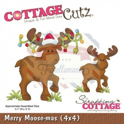 Fustella metallica Cottage Cutz Merry Moose-mas