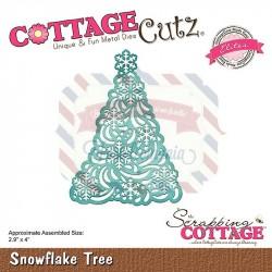 Fustella metallica Cottage Cutz Snowflake Tree