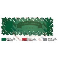 Strisce in feltro con alberi 85x30 cm
